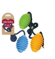 Rosewood Cyber Dog Rugby Ball on Rope